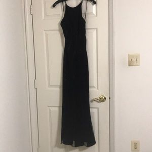 Black evening gown